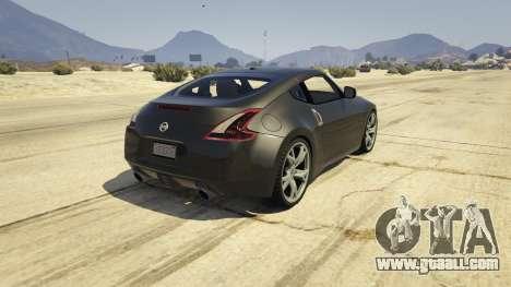 GTA 5 Nissan 370z v2.0 rear left side view