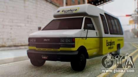 GTA 5 Rental Shuttle Bus Escalera Livery for GTA San Andreas