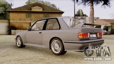 BMW M3 E30 1991 Stock for GTA San Andreas back left view