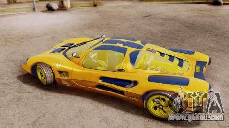 Ferrari P7 Gold for GTA San Andreas back left view