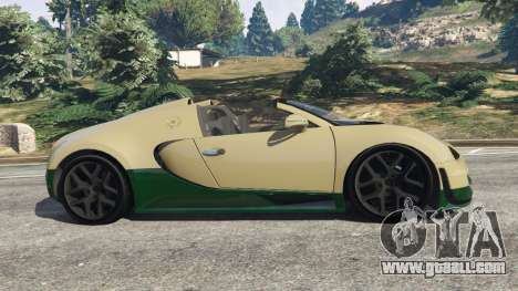 GTA 5 Bugatti Veyron Grand Sport Vitesse left side view