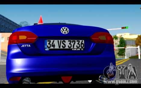 Volkswagen Jetta for GTA San Andreas inner view