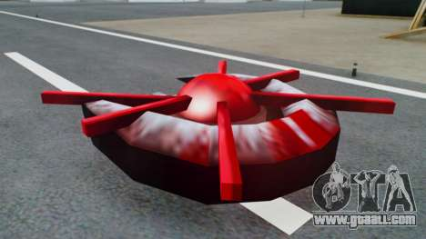 Alien Ship Red-Gray for GTA San Andreas back left view