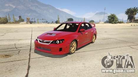2011 Subaru Impreza STI for GTA 5
