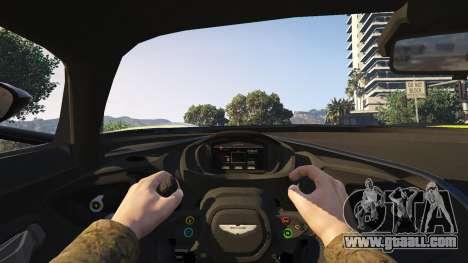 GTA 5 Aston Martin Vulcan v1.0 back view