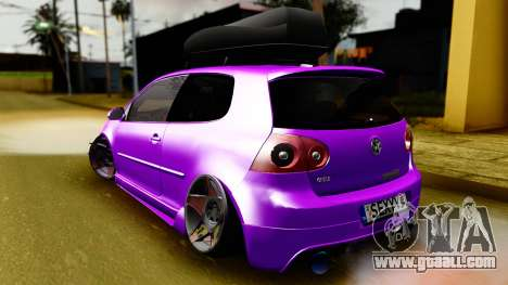 Volkswagen Golf Mk5 Stanced for GTA San Andreas left view