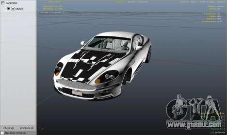 GTA 5 Aston Martin DBS rear right side view