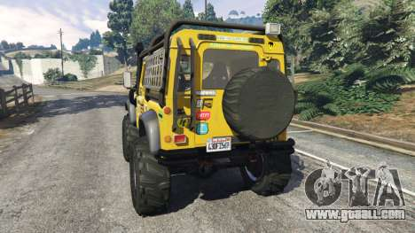 GTA 5 Land Rover Defender 90 1990 v1.1 rear left side view