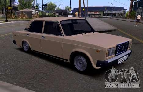VAZ 2107 KBR for GTA San Andreas
