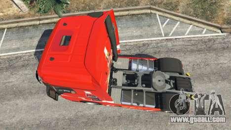 GTA 5 Mercedes-Benz Actros Euro 6 [Coca-Cola] back view