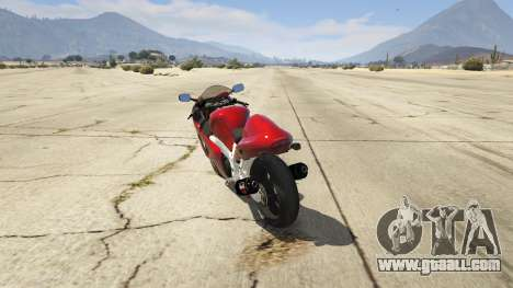 GTA 5 Suzuki GSX1300R Hayabusa rear left side view