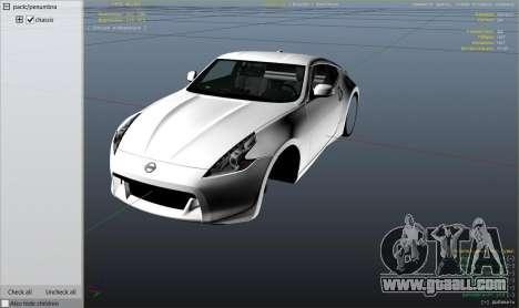 GTA 5 Nissan 370z v2.0 right side view