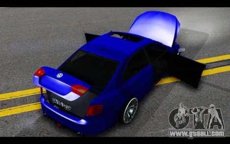 Volkswagen Jetta for GTA San Andreas bottom view