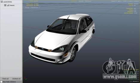 GTA 5 Ford Focus SVT MK1 v1.1 right side view
