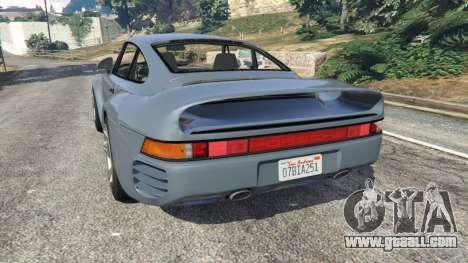 GTA 5 Porsche 959 1986 rear left side view