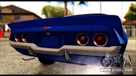 Chevrolet Camaro Z28 1970 Tunable for GTA San Andreas back view