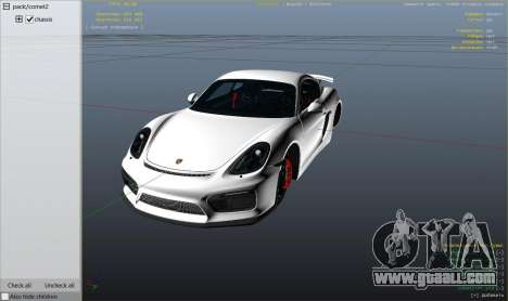 GTA 5 2016 Porsche Cayman GT4 v1.0 right side view