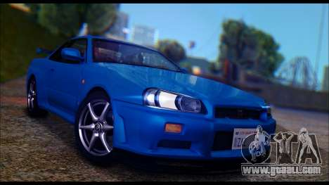 Nissan Skyline R-34 GT-R V-spec 1999 Tunable for GTA San Andreas left view