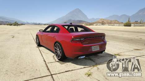 GTA 5 2015 Dodge Charger RT 1.4 rear left side view