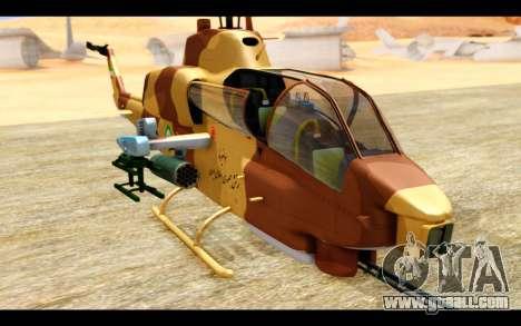 AH-1W IRIAF SuperCobra for GTA San Andreas back view
