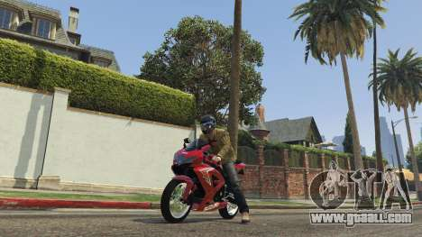 GTA 5 Suzuki Srad 750 back view