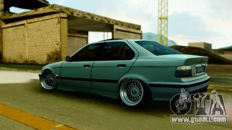 BMW 320 E36 for GTA San Andreas back left view