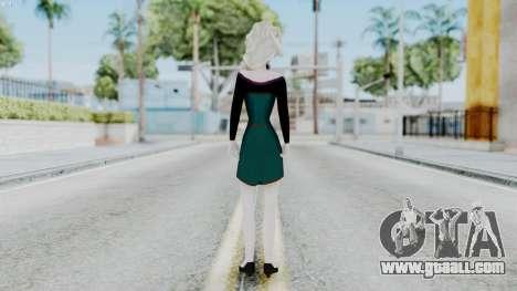 Elsa Regular Skirt Dress for GTA San Andreas third screenshot