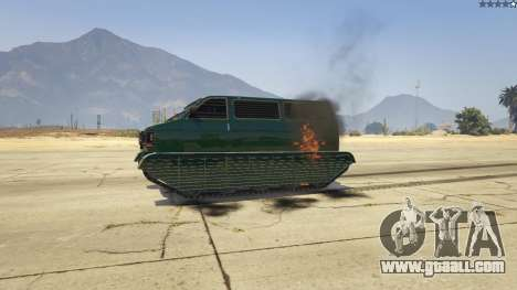 GTA 5 Police Transporter Tracked rear right side view