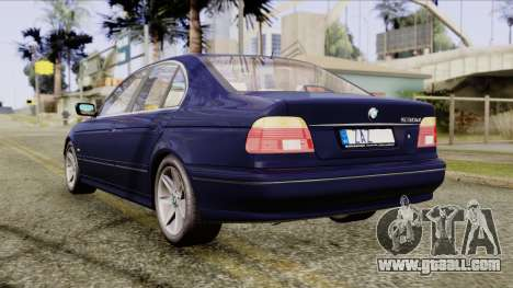 BMW 530D E39 2001 Stock for GTA San Andreas back left view