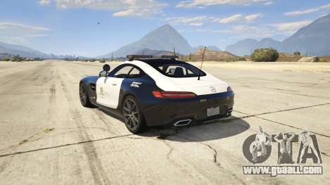 GTA 5 LAPD Mercedes-Benz AMG GT 2016 rear left side view