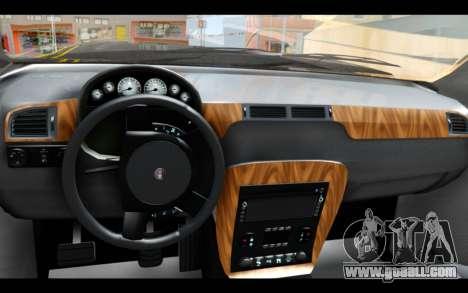 GTA 5 Declasse Granger FIB IVF for GTA San Andreas back left view