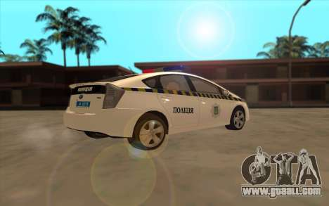 Toyota Prius Police Of Ukraine for GTA San Andreas back view