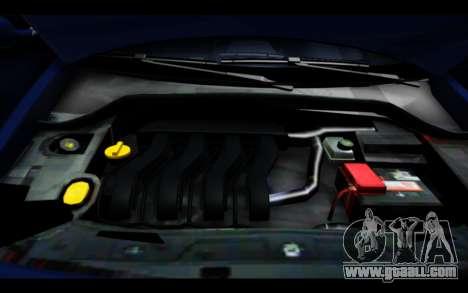 Renault Megane Sedan for GTA San Andreas upper view