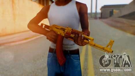 GTA 5 Assault Rifle Luxury Camo for GTA San Andreas