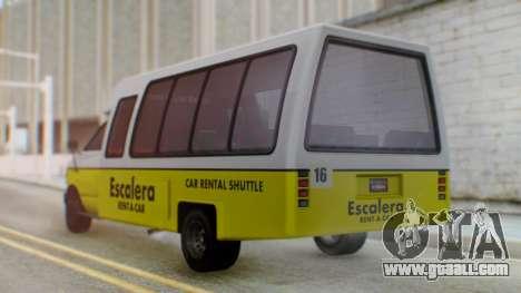 GTA 5 Rental Shuttle Bus Escalera Livery for GTA San Andreas left view