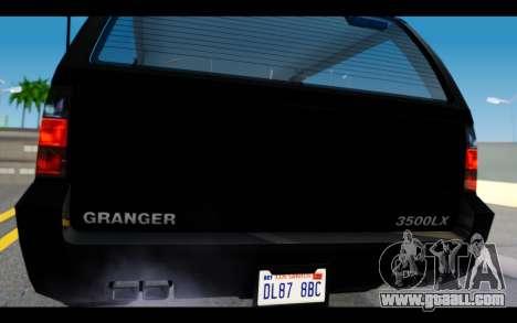 GTA 5 Declasse Granger FIB IVF for GTA San Andreas right view