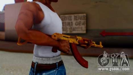 GTA 5 Assault Rifle Luxury Camo for GTA San Andreas second screenshot
