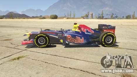 GTA 5 Red Bull F1 v2 redux left side view