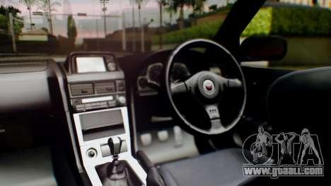 Nissan Skyline R34 Stance Nico Yazawa Itasha for GTA San Andreas back view
