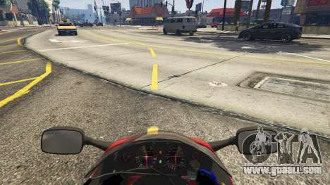 GTA 5 Suzuki GSX1300R Hayabusa rear right side view