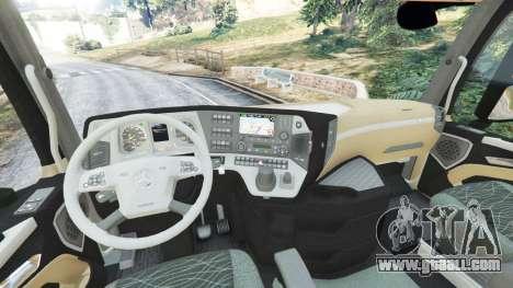 GTA 5 Mercedes-Benz Actros Euro 6 [Brasil] rear right side view