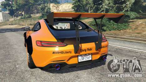 GTA 5 Mercedes-Benz AMG GT 2016 [LibertyWalk] rear left side view