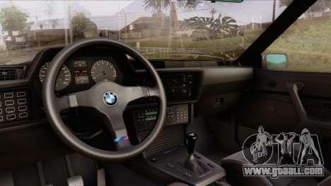 BMW M635 E24 CSi 1984 Stock for GTA San Andreas back view