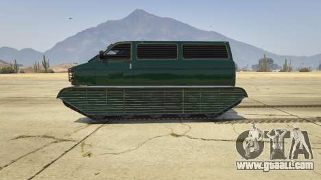 GTA 5 Police Transporter Tracked left side view