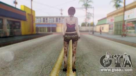 Fatal Frame 4 Misaki Punk Outfit for GTA San Andreas third screenshot