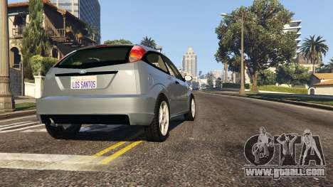 GTA 5 Ford Focus SVT MK1 v1.1 back view