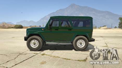 GTA 5 УАЗ 3159 Porpoising left side view