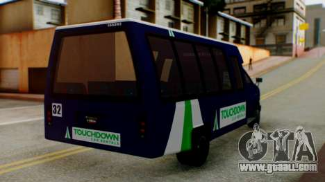 GTA 5 Rental Shuttle Bus Touchdown Livery for GTA San Andreas left view