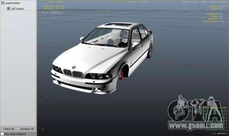 GTA 5 BMW M5 E39 1.1 right side view