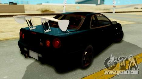 Nissan Skyline GT-R Nismo Tuned for GTA San Andreas left view